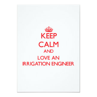 Guarde la calma y ame a un ingeniero de la invitación 12,7 x 17,8 cm