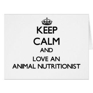 Guarde la calma y ame a un nutricionista animal