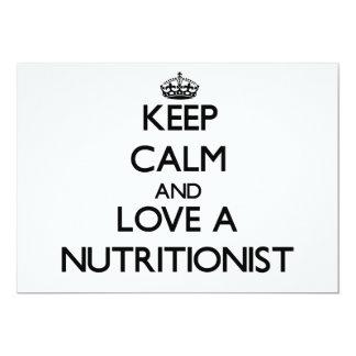 Guarde la calma y ame a un nutricionista anuncio