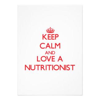 Guarde la calma y ame a un nutricionista comunicado personal