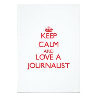 Guarde la calma y ame a un periodista comunicado