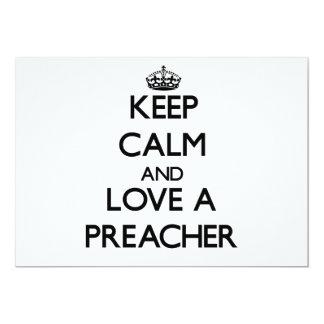 Guarde la calma y ame a un predicador anuncio