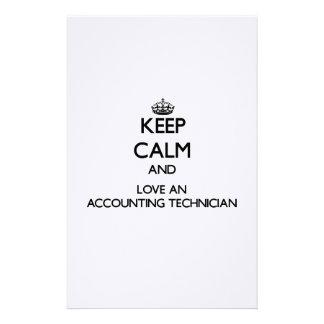 Guarde la calma y ame a un técnico de la contabili papelería