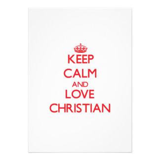 Guarde la calma y ame al cristiano anuncios