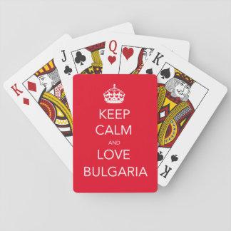 Guarde la calma y ame Bulgaria Baraja De Cartas