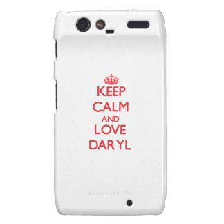 Guarde la calma y ame Daryl Droid RAZR Carcasa