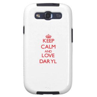 Guarde la calma y ame Daryl Galaxy S3 Carcasas