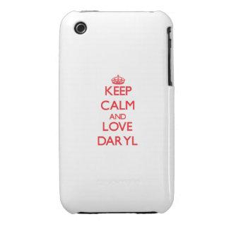 Guarde la calma y ame Daryl iPhone 3 Case-Mate Carcasas