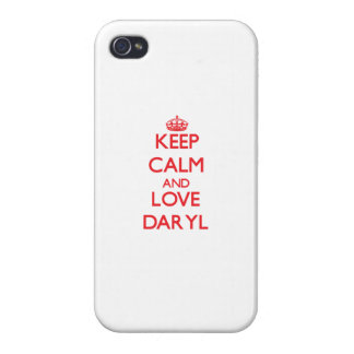 Guarde la calma y ame Daryl iPhone 4/4S Carcasa