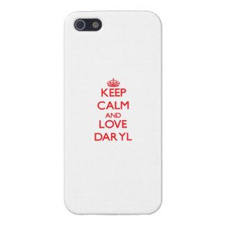 Guarde la calma y ame Daryl iPhone 5 Protector
