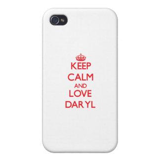 Guarde la calma y ame Daryl iPhone 4 Cárcasa