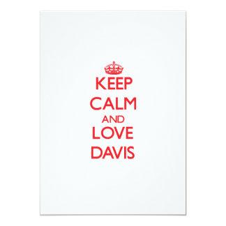 Guarde la calma y ame Davis Anuncios