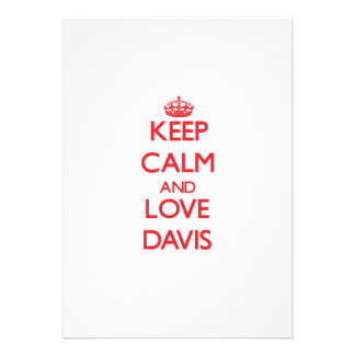 Guarde la calma y ame Davis Comunicado Personal