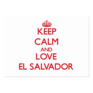 Guarde la calma y ame El Salvador