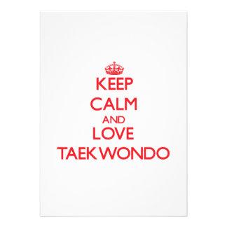 Guarde la calma y ame el Taekwondo Invitación