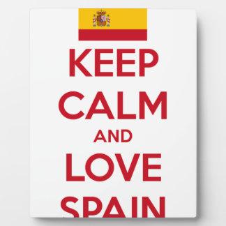 Guarde la calma y ame España Placa Expositora