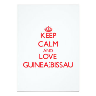 Guarde la calma y ame Guinea-Bissau Invitación 12,7 X 17,8 Cm