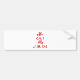 Guarde la calma y ame la etiqueta del laser pegatina de parachoque