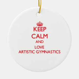 Guarde la calma y ame la gimnasia artística ornamento de reyes magos