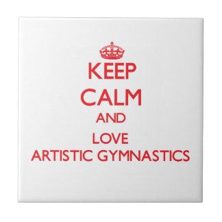Guarde la calma y ame la gimnasia artística azulejos cerámicos