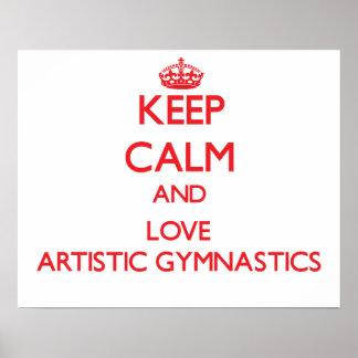 Guarde la calma y ame la gimnasia artística impresiones