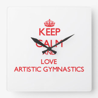 Guarde la calma y ame la gimnasia artística relojes