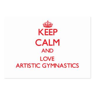 Guarde la calma y ame la gimnasia artística tarjeta de visita