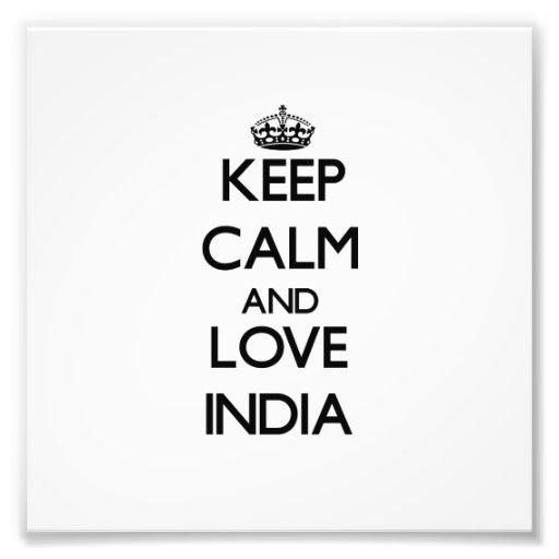 Guarde la calma y ame la India Fotografía