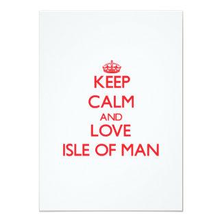 Guarde la calma y ame la isla del hombre comunicados personalizados