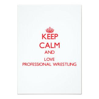 Guarde la calma y ame la lucha profesional invitacion personal