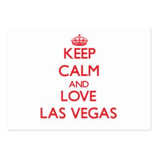 Guarde la calma y ame Las Vegas Plantillas De Tarjeta De Negocio