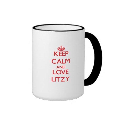 Guarde la calma y ame Litzy Taza De Café