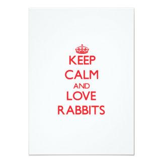 Guarde la calma y ame los conejos anuncios personalizados