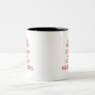 Guarde la calma y ame los tipos de tero norteameri tazas de café