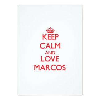 Guarde la calma y ame Marcos Anuncios