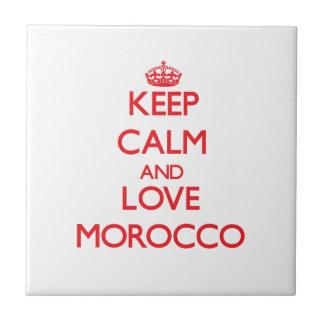 Guarde la calma y ame Marruecos