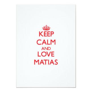 Guarde la calma y ame Matias Anuncio
