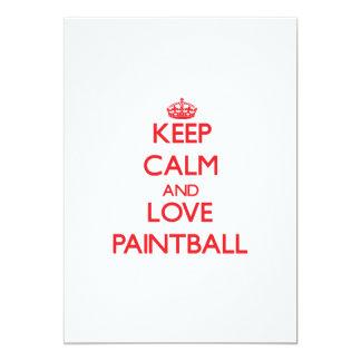 Guarde la calma y ame Paintball Invitacion Personalizada