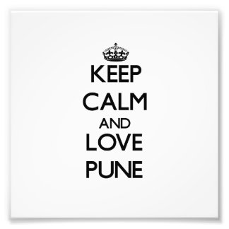 Guarde la calma y ame Pune Arte Fotografico