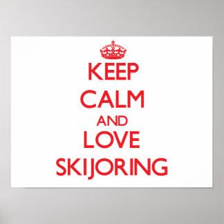 Guarde la calma y ame Skijoring Impresiones