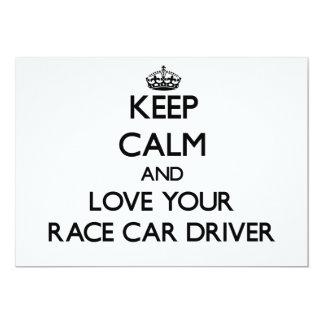 Guarde la calma y ame su conductor de coche de invitación 12,7 x 17,8 cm