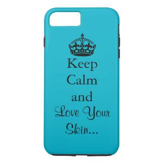 Guarde la calma y ame su piel funda iPhone 7 plus