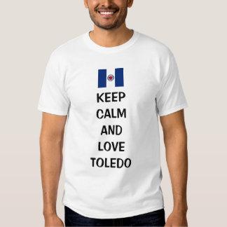 Guarde la calma y ame Toledo Camiseta