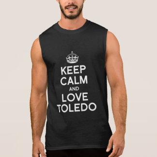 GUARDE LA CALMA Y AME TOLEDO -- .png Camisetas Sin Mangas