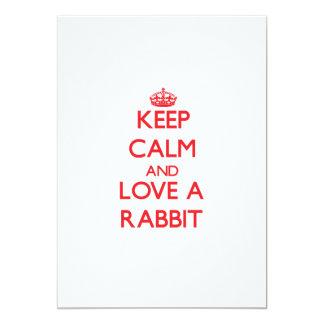 Guarde la calma y ame un conejo comunicados personalizados