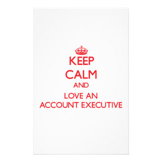 Guarde la calma y ame un ejecutivo de cuenta papeleria personalizada