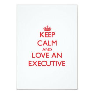 Guarde la calma y ame un ejecutivo comunicados personales