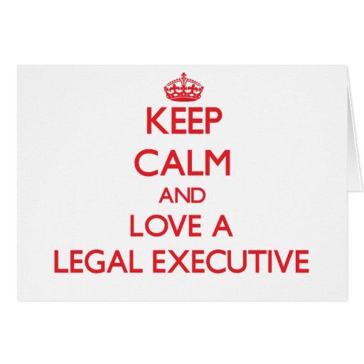 Guarde la calma y ame un ejecutivo legal tarjetas
