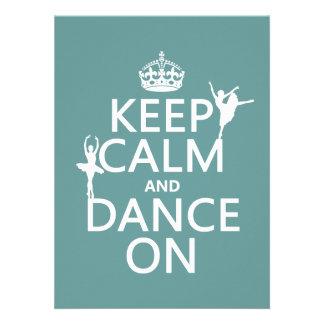 Guarde la calma y baile en ballet todos los col anuncios personalizados