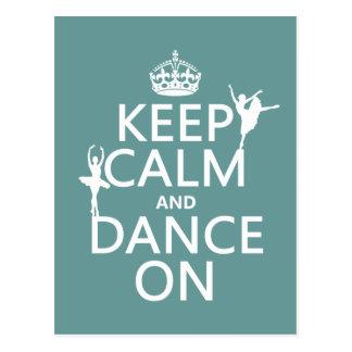 Guarde la calma y baile en (ballet) (todos los col postal